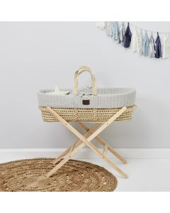 Natural Knitted Moses Basket Dove