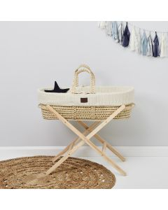 Natural Knitted Moses Basket Linen