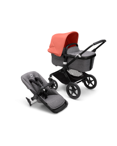 Bugaboo Fox3 Black Chassis / Grey Melange Style Pack + Canopy Of Choice