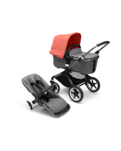 Bugaboo Fox3 Graphite Chassis / Grey Melange Style Pack + Canopy Of Choice
