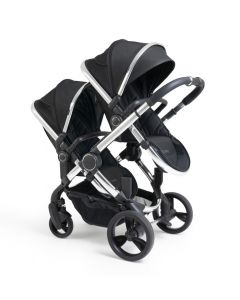 iCandy Peach Pushchair & Carrycot - Twin - Black Twill/Chrome