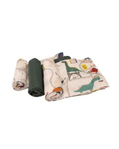 MUSLIN SET- 3PK DINORIFFIC