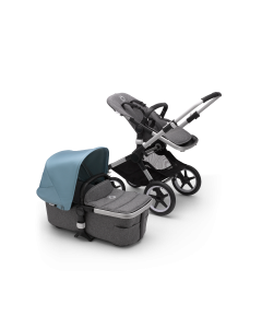 Bugaboo Fox2 Aluminum Chassis / Grey Melange Style Pack + Canopy Of Choice