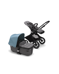 Bugaboo Fox2 Black Chassis / Grey Melange Style Pack + Canopy Of Choice