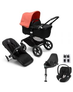 Bugaboo Fox3 Black Chassis / Black Style Pack & CloudZ Combo