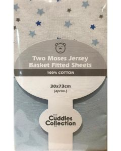 Blue Stars Moses Basket Sheets