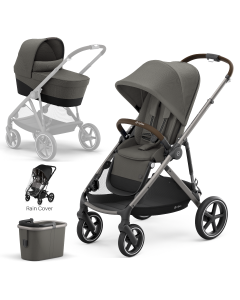 Cybex Gazelle S 4Piece Bundle Soho Grey - Taupe Chassis