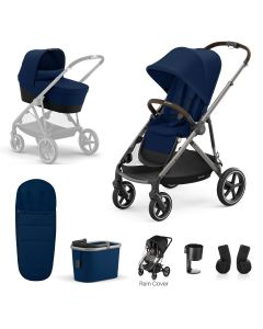 Cybex Gazelle S 7Piece Bundle Navy Blue - Taupe Chassis