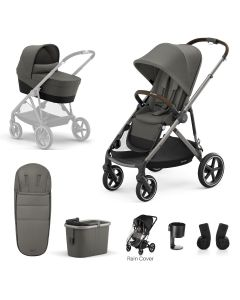 Cybex Gazelle S 7Piece Bundle Soho Grey - Taupe Chassis