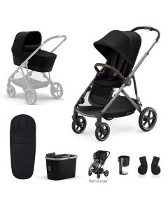 Cybex Gazelle S 7Piece Bundle Deep Black - Taupe Chassis