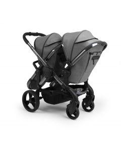 iCandy Peach Pushchair & Carrycot - Twin - Dark Grey Twill/Phantom