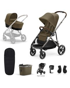 Cybex Gazelle S 7 Piece Bundle Classic Beige - Taupe Chassis