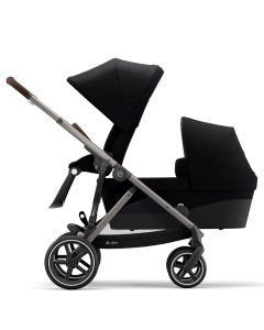 Cybex Gazelle S Sibling Mode Deep Black- Taupe Chassis