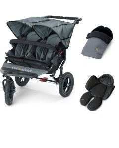 Out N About Nipper V4 Double Steel Grey 1 Footmuff & 1 Newborn Insert