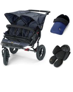Out N About Nipper V4 Double Navy 1 Footmuff & 1 Newborn Insert
