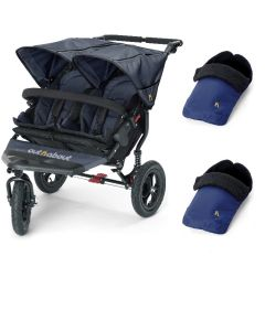 Out N About Nipper V4 Double Navy & 2 Footmuffs