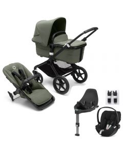 Bugaboo Fox3 Black Chassis/ Forest Green Complete & CloudZ Combo