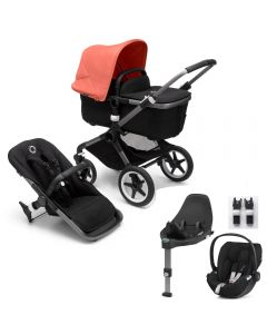 Bugaboo Fox3 Graphite Chassis / Black Style Pack & CloudZ Combo