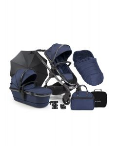 iCandy Peach Navy Twill - Phantom Chassis & Accessories Bundle