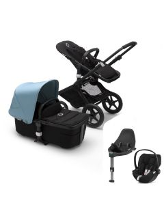 Bugaboo Fox2 Black Chassis / Black Style Pack & CloudZ Combo