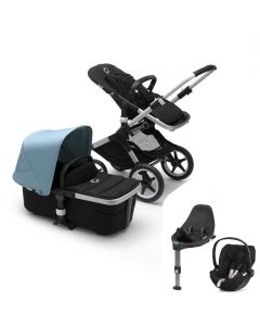 Bugaboo Fox2 Aluminum Chassis / Black Style Pack & CloudZ Combo