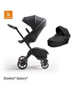 STOKKE® XPLORY® X Rich Black Stroller & Carrycot