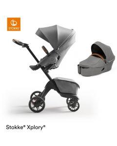 STOKKE® XPLORY® X Modern Grey Stroller & Carrycot