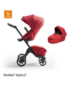 STOKKE® XPLORY® X Ruby Red Stroller & Carrycot