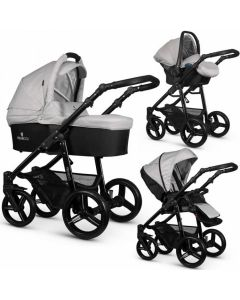 Venicci Soft Light Grey Black Chassis