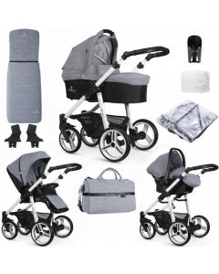 Venicci Soft Medium Grey White Chassis
