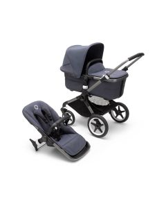 Bugaboo Fox3 Graphite Chassis/ Stormy Blue Complete
