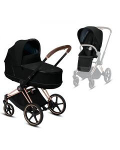 priam rose gold chassis + carrycot & seat pack