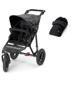 Out N About Nipper V4 Single Black & Footmuff