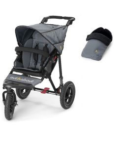 Out N About Nipper V4 Single Steel Grey & Footmuff