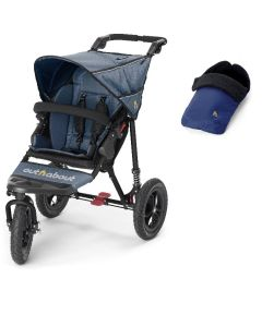 Out N About Nipper V4 Single Navy & Footmuff