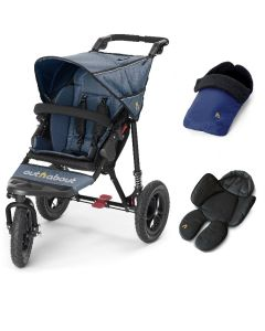 Out N About Nipper V4 Single Navy 1 Footmuff & 1 Newborn Insert