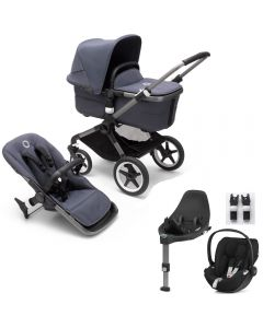 Bugaboo Fox3 Graphite Chassis/ Stormy Blue Complete & CloudZ Combo