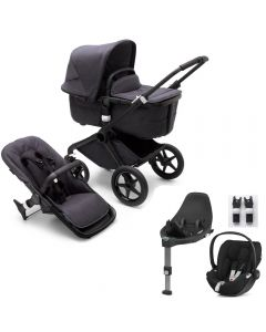 Bugaboo Fox3 Black Chassis/ Washed Black Complete & CloudZ Combo