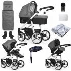 Venicci Soft Edition Denim Grey White Chassis & isofix Base